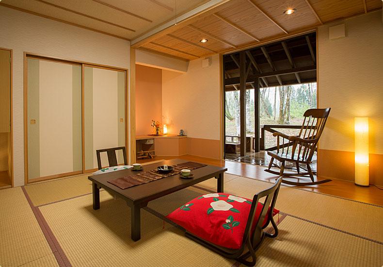 露天風呂付一般客室風景
